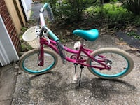 "Pink and White youth 20"" bike. Great used condition. Will meet for cash only. Frederick, 21701"