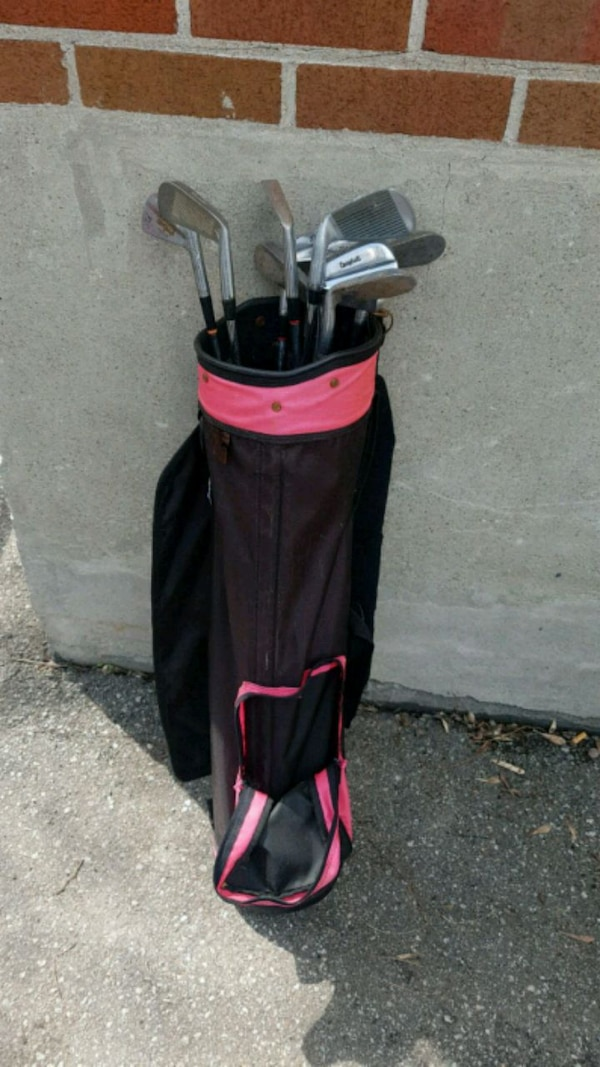 82c35c9d2125e2 Used black and red golf bag for sale in Mississauga - letgo