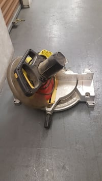 yellow and grey miter saw