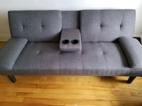 gray fabric tufted sofa chair Montréal, H3X 2R9