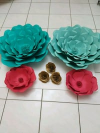 three green, pink, and red flower decors Vaughan, L4L 5T8