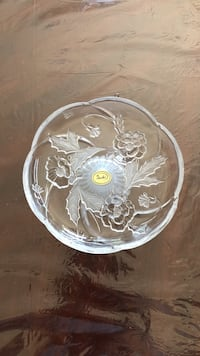 Brand new crystal party platter with stand, made in Japan  San Jose, 95148