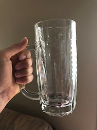Heavy glass beer mugs