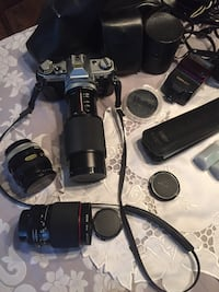Immaculate Canon AE-1 35mm film camera bundle with 4 amazing lenses + much much more! Ottawa, K1H 7K9