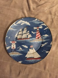 Decorative Patriotic Nautical Plate