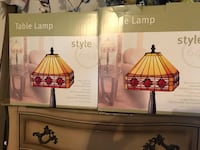 Tiffany style lamps (2) brand new still in box; adds color to any room Drexel Hill, 19026