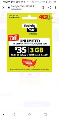 35 straight talk refill phone card