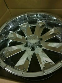chrome multi-spoke car wheel