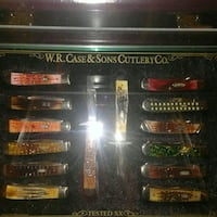 W.R. Case Knife Collection and display case.