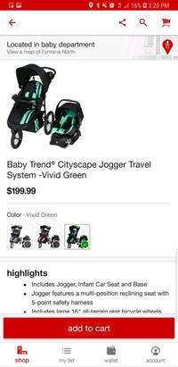 Brand New Travel System (stroller & carseat) Rancho Cucamonga, 91739