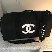 Chanel Black Duffel Travel Gym Sport Shoulder Removable Strap Bag Zip VIP GIFT 7829 km