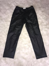 Vintage Black Leather Pants Bowie, 20715
