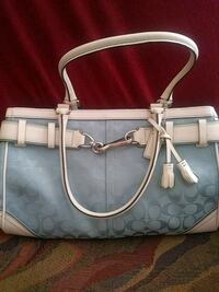 gray monogrammed Coach leather tote bag Killeen, 76541