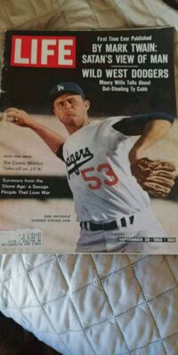 1962 LIFE DODGERS DON DRYSDALE Lake Elsinore, 92530