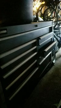 black and gray metal tool chest Morinville, T8R 1G2