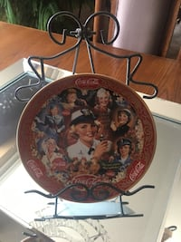 Franklin Mint Coke Collector Plate with Stand Oshawa, L1H 1H9
