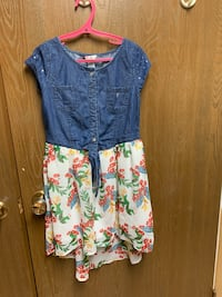 Child flower dress size 10 used