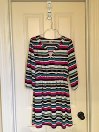 pink & teal striped quarter-sleeved mini dress Prairieville, 70769