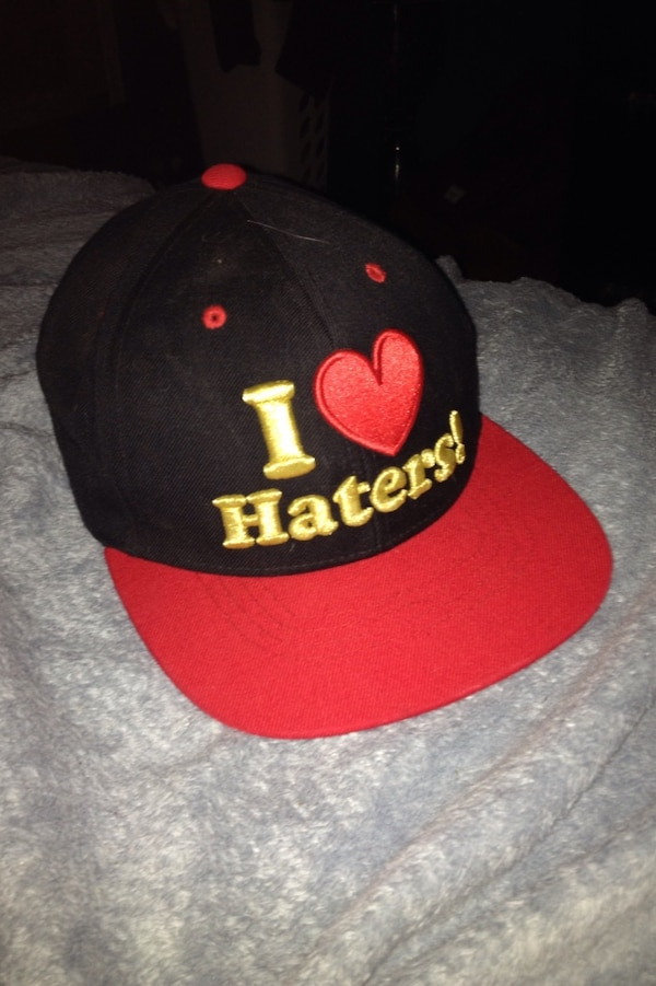a3129102468a4 Used black and red i love haters! fitted cap for sale in Saskatoon - letgo