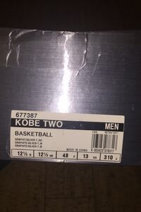 Kobe two basketball Shoes.
