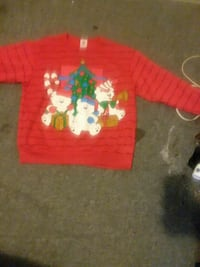 red teddy bear printed crew-neck sweater Myrtle Beach, 29577