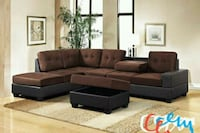 *Heights Chocolate/Black Reversible Sectional Houston