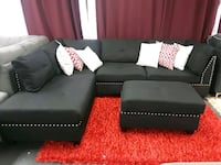 Fabric sectional with ottoman  Farmers Branch, 75234