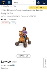 BRAND NEW RIDE ON INTERACTIVE HORSE