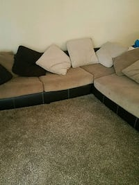 brown and black sectional couch El Paso, 79935