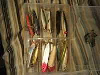 assorted color fishing lures in case Tampa, 33618