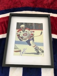 Montreal Canadiens mike McPhee signed and framed photo  Châteauguay, J6K