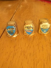 Cruise ships thimbles set of 3