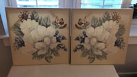 Twin set of floral canvas paintings Washington, 20009