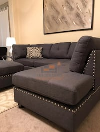 Brand new grey sectional sofa with ottoman Silver Spring, 20902