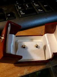 pair of gold plated earring studs  Edmonton, T5S 2B4