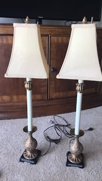 """Pair of Candlestick Lamps by Uttermost 31""""Tall ****MAKE AN OFFER**** Mount Royal, 08061"""