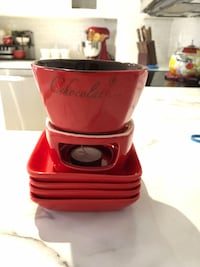 Red candle chocolate fondue set from stokes St. Catharines, L2R 7K6