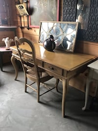 REDUCED Vintage French Provencial writing desk with rush bottom chair! Goshen, 10924