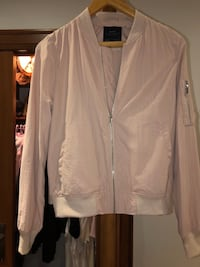 Blush pink light bomber jacket Montreal