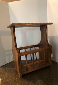 Solid Wood End Table With Magazine Rack Manassas