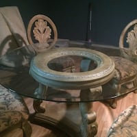 TEMPERED GLASS TABLE AND CHAIRS MEDITERRANEAN STYLE St Catharines, L2R 3C3