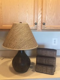 """Lamp 23"""" Tall with Coordinated Office Organizer  Lansdowne"""