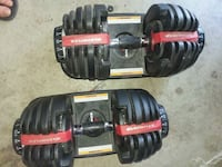 black and red dumbbells with box Lindon, 84042
