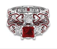 Stunning Ruby and white Sapphire Ring Set with Beautiful Details szs 6,7,8,9 SALE!!!!!!!!!! Coleman, 76834