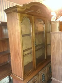 brown wooden framed glass display cabinet Camp Hill, 17011