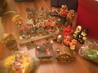 Large lot of ceramic villages thanksgiving decorations more Charlotte, 28105