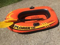 "1 person row boat(holds 120lbs)""30 x 5ft""(Great Condition)"