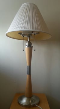 Tall Stylish Nickel &Wood Table Lamp / offer  Mississauga, L5N 3M4