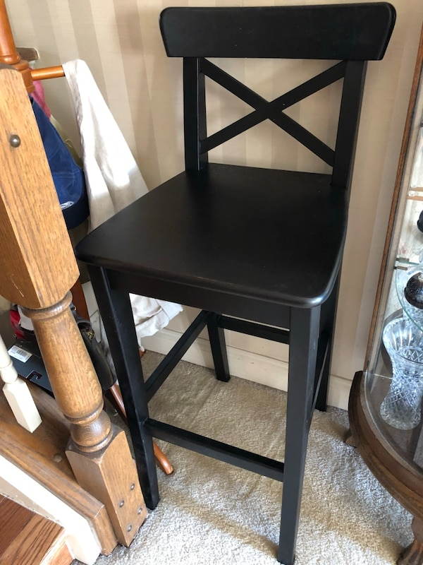 Brilliant 2 Ikea Ingolf Bar Stools With Backrest Andrewgaddart Wooden Chair Designs For Living Room Andrewgaddartcom