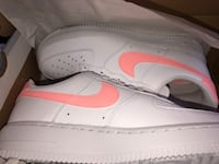 White Air Force ones with peach check mark Brampton, L6V 0W9